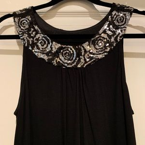 Express- Black Dress with Sequins